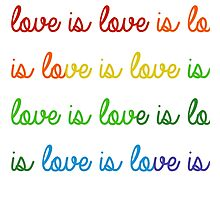 Love is Love is Love is Love Photographic Print