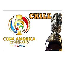 Chile Winner Copa America 2016 Photographic Print
