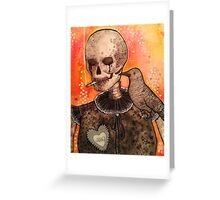 Skull and Raven  Greeting Card