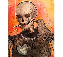 Skull and Raven  Photographic Print