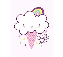 Chill Out Cloud Ice-cream Photographic Print