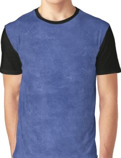 Deep Ultramarine Oil Pastel Color Accent Graphic T-Shirt
