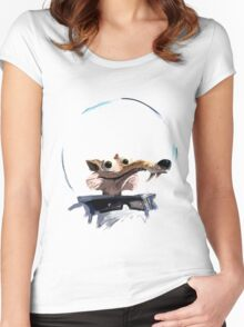 ICE AGE - Scrat 's full spacesuit Women's Fitted Scoop T-Shirt