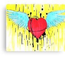 Flying from Love Canvas Print