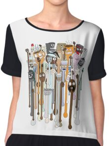 melting faces coffee Chiffon Top