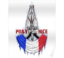 Pray for Nice French Poster