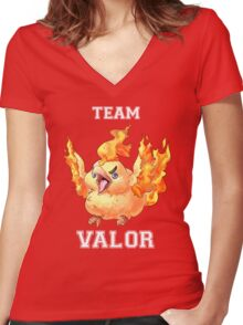 TEAM VALOR! Women's Fitted V-Neck T-Shirt
