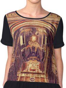 St Peter's Basilica Dome Interior Vatican Italy Chiffon Top