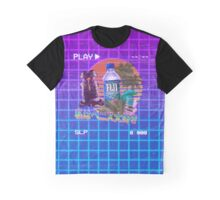 Vaporwave Fiji Bottle Graphic T-Shirt