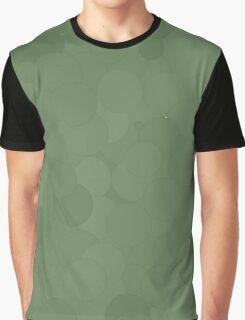 Vineyard Green Bubble Dot Color Accent Graphic T-Shirt