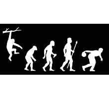 Bowling Evolution Funny Photographic Print