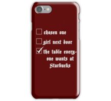 Blue's a Table (White) iPhone Case/Skin