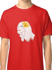 Girl with Rose Classic T-Shirt
