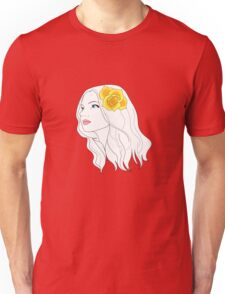 Girl with Rose Unisex T-Shirt