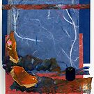 Blue and Orange Collage by Dana Roper