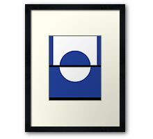 Pokemon Go (blue and white) Framed Print