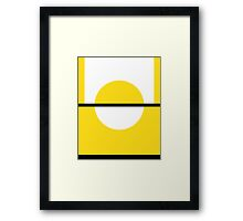 Pokemon Go (yellow and white) Framed Print