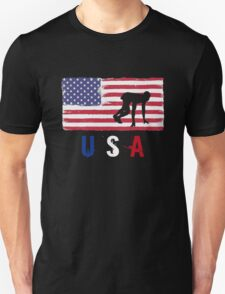 USA Athletics 2016 competition track and field funny t-shirt Unisex T-Shirt