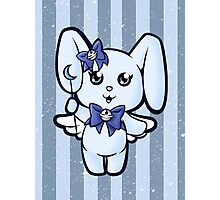 Cutie Magical Blue Bunny Photographic Print