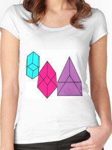 shape blocks Women's Fitted Scoop T-Shirt