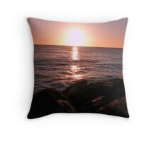 Sunset at Cottesloe Beach Throw Pillow