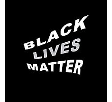 #BlackLivesMatter Curvy 70's-esque Graphic Statement  Photographic Print