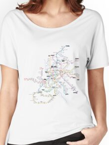 madrid subway 2016 Women's Relaxed Fit T-Shirt