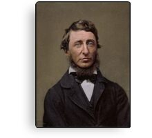 Henry David Thoreau, 1856 Canvas Print
