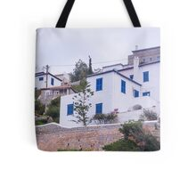 Stunning white and blue houses Tote Bag