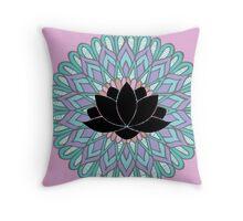 Lotus Flower Mandala Throw Pillow