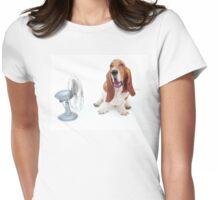 """Shh! Stubborn Hound!"" pix©shevaun Womens Fitted T-Shirt"