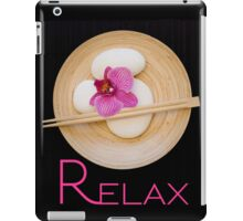 "orchid black zen ""Relax"" iPad Case/Skin"