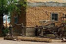Mesilla Adobe and Wagon  by Larry3