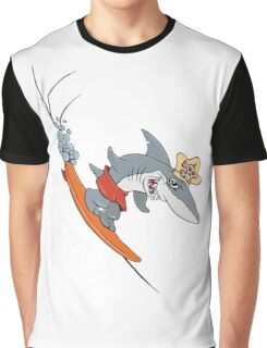 Chompy the Surfing Shark. Graphic T-Shirt