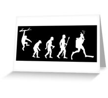 Funny Diving Evolution Greeting Card
