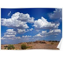 Clouds Over La Mesa Poster