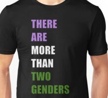 There Are More Than Two Genders (NonBinary Colors) Unisex T-Shirt