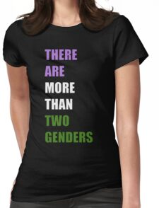 There Are More Than Two Genders (NonBinary Colors) Womens Fitted T-Shirt