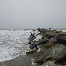 Stormy winter day Rockaway Beach NY by Jacker