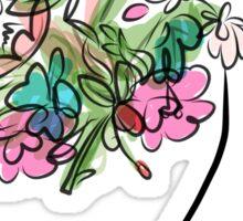 Floral spring woman Sticker