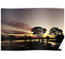 Sunset after outback rains Poster