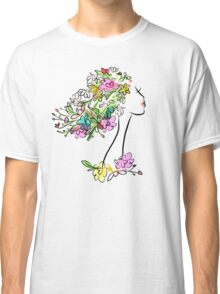 Floral spring woman Classic T-Shirt