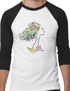 Floral spring woman Men's Baseball ¾ T-Shirt