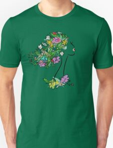 Floral spring woman Unisex T-Shirt