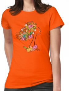 Floral spring woman Womens Fitted T-Shirt