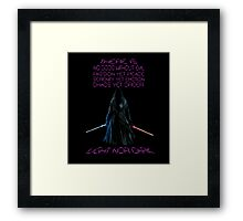 The Gray Jedi  Framed Print