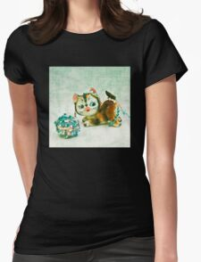 Kitty Mischief Womens Fitted T-Shirt