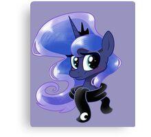 Luna in a scarf Canvas Print