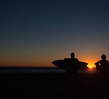 after surf sunset tranquil by Anja Fuechtbauer