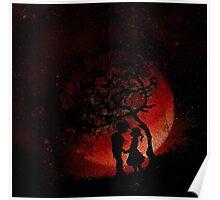 Blood Moon Romance, By Fallen Drops. Poster